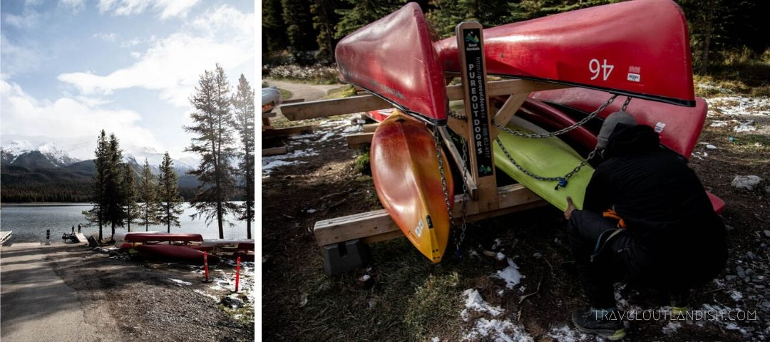 Kayaks from Pure Outdoors in Jasper National Park