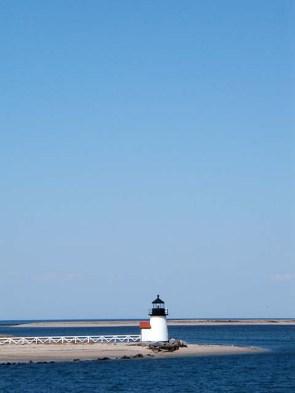 Brant Point lighthouse, Nantucket Harbor.