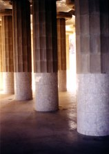 Columns supporting main platform at the Parque Guell
