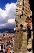 Detail of Spires from the Temple de la Sagrada Familia