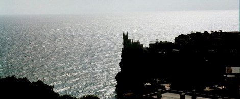 Swallow's Nest is a decorative castle located at Gaspra