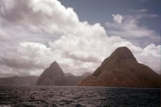 Approaching the Pitons from the south