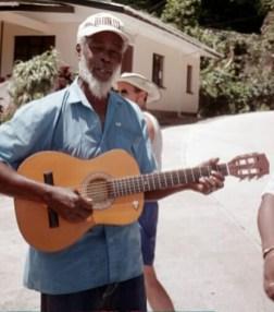 Musical greeting at Annandale Falls