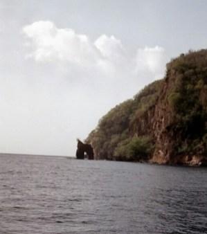 Natural Arch guarding Wallilabou Bay