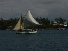 Schooner in Nassau Harbor