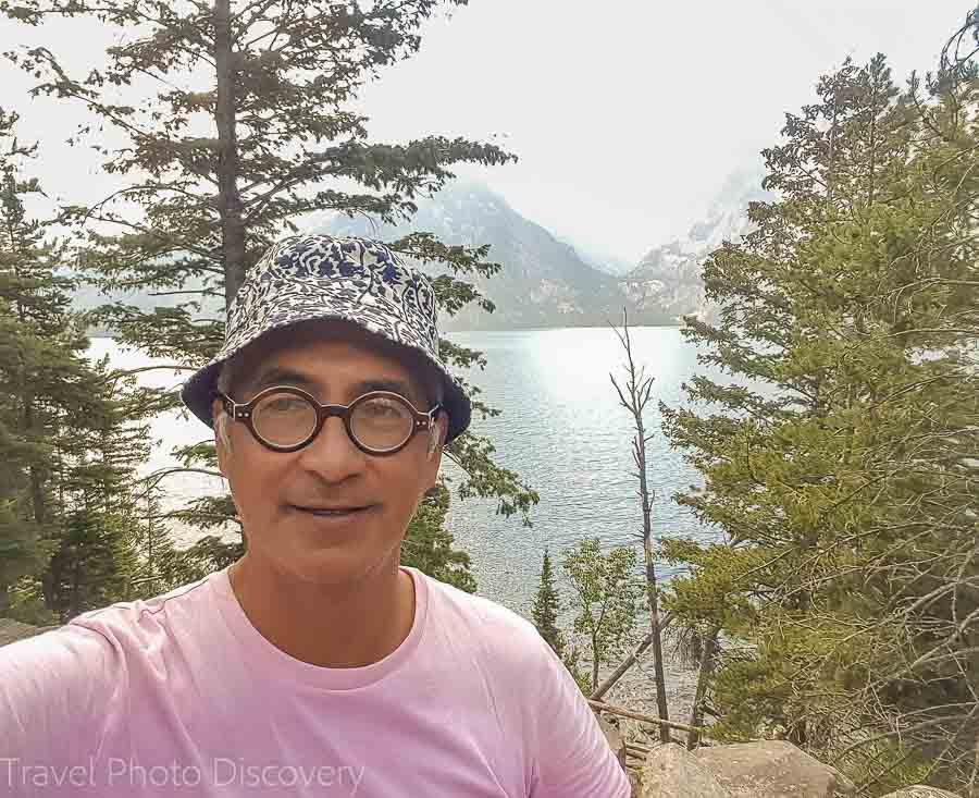 A selfie at Grand Teton National Park