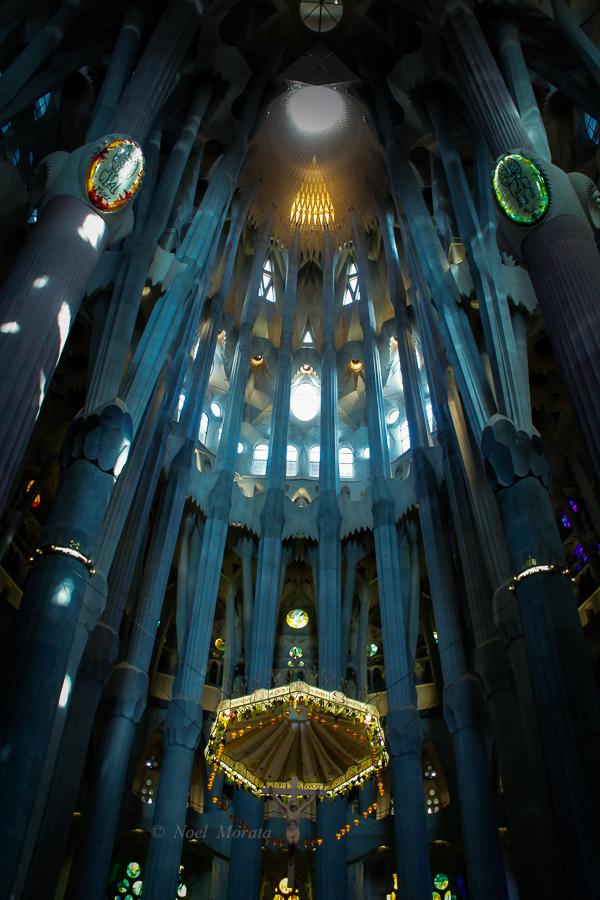 Interior detail of the Sagrada Familia