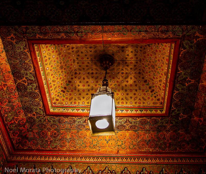Decorated ceiling interior