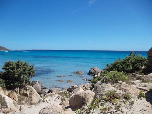 Sardinia coast line