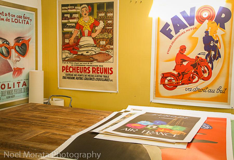 Vintage posters on 4th Street, Berkeley