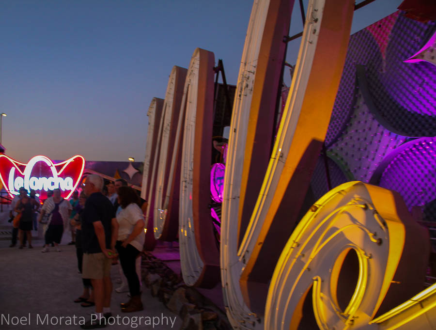 Entering the boneyard of the Neon Museum
