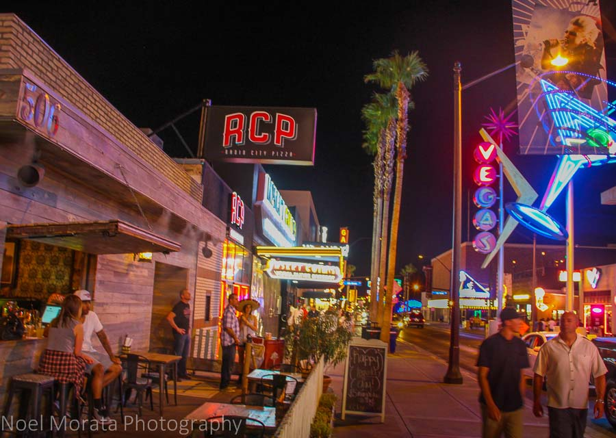 East Fremont Street at night time