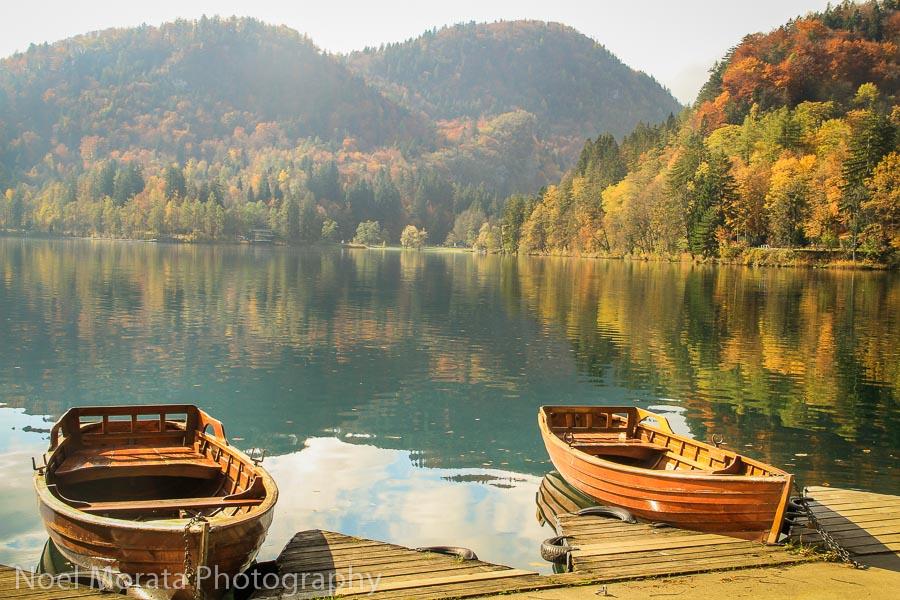 Rent a row boat at Lake Bled