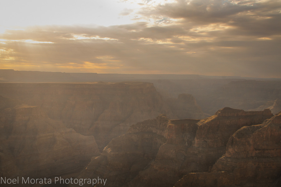 Early morning entering the Grand Canyon