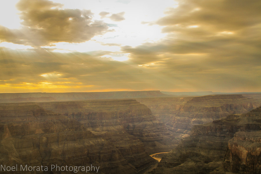 First light in the west rim of the Grand Canyon