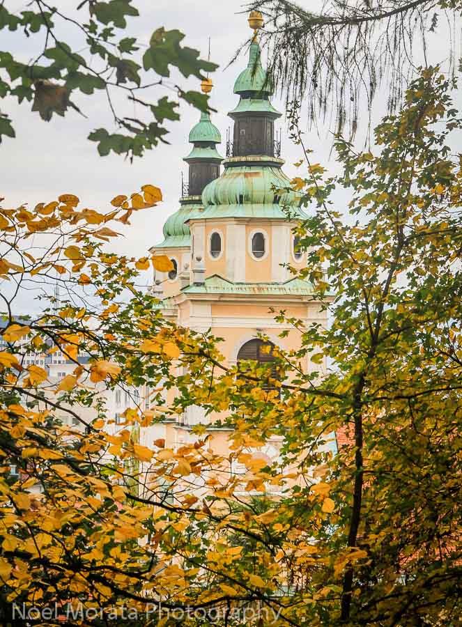 Fall time color in Ljubljana