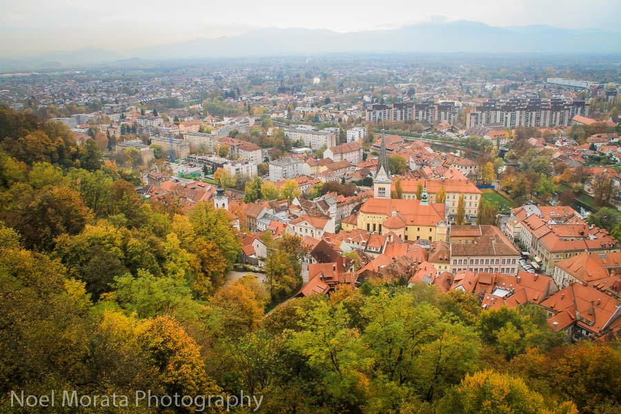 Colorful Ljubljana panorama