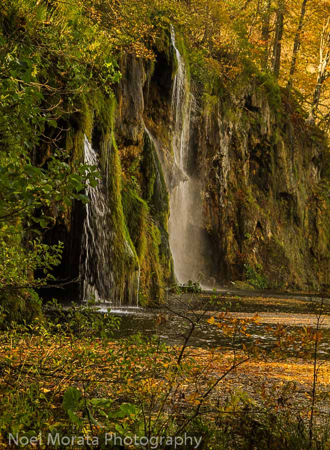 Soothing water falls at Plitvice