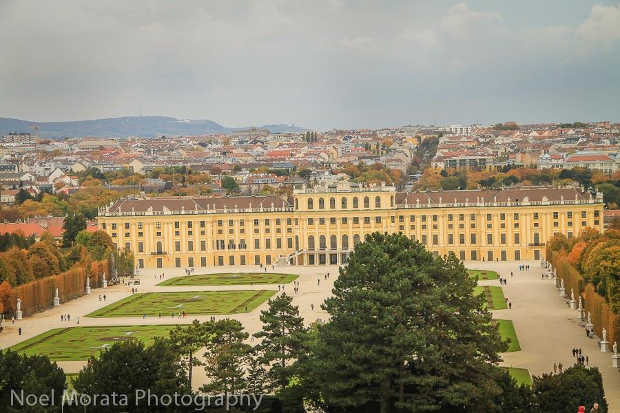 Panorama above Schonbrunn