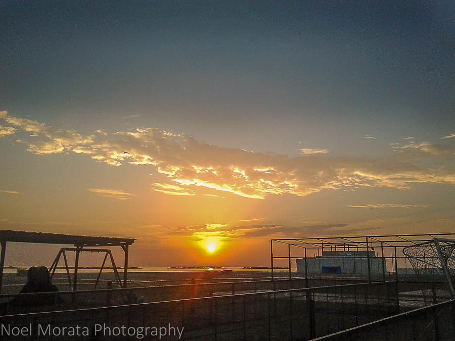 Coastal view and sunrise in Cesenatico, Italy