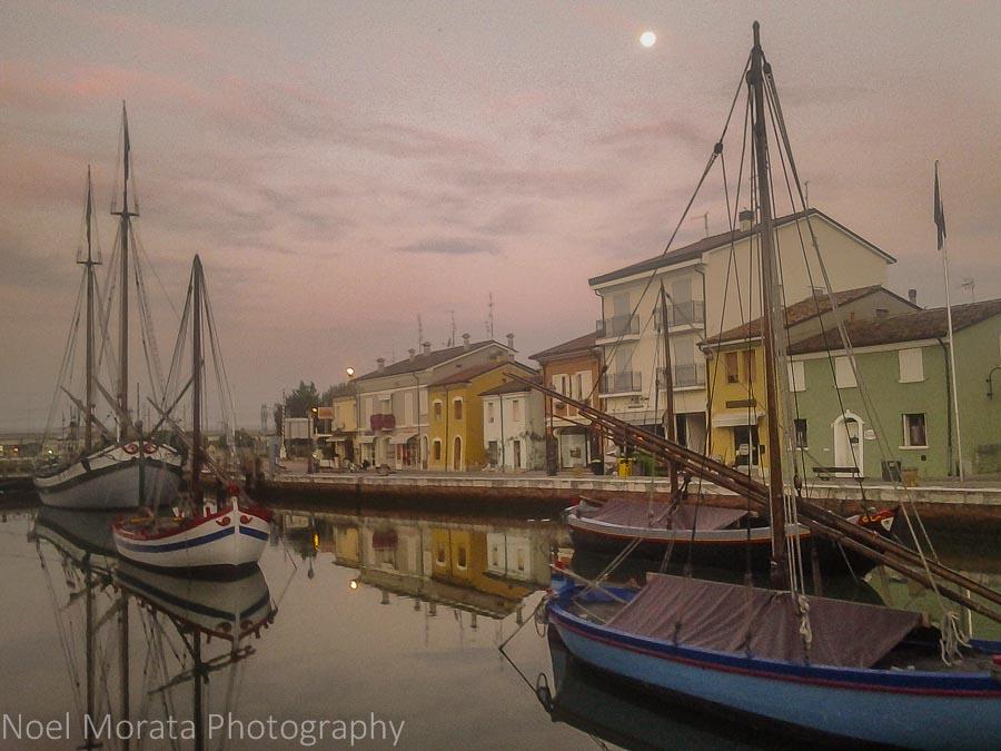 Morning light in Cesenatico, Italy