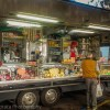 Specialty food meats and deli at the Faenza market