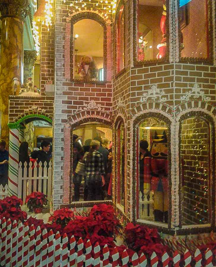 Life size gingerbread house at the Fairmont