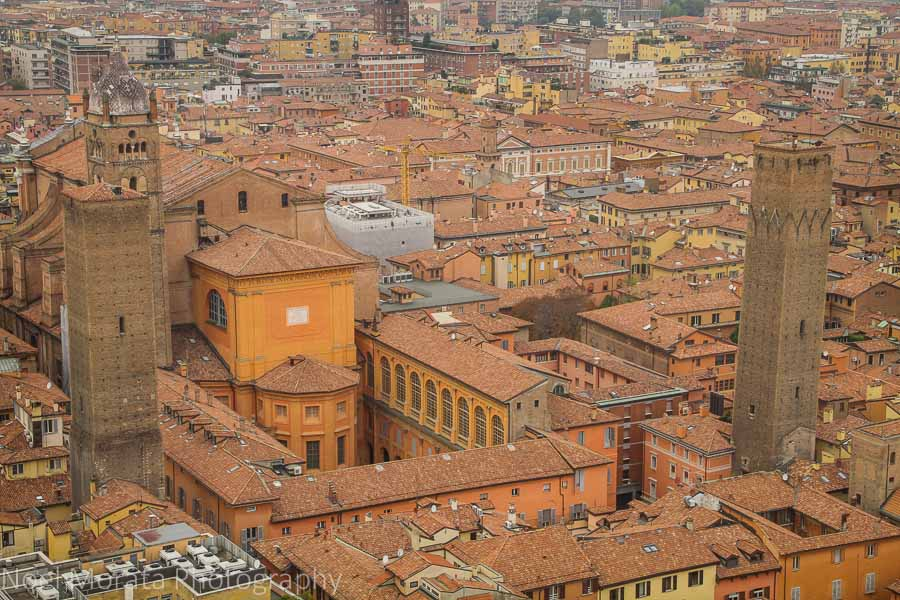 Towers of Bologna and the city panorama