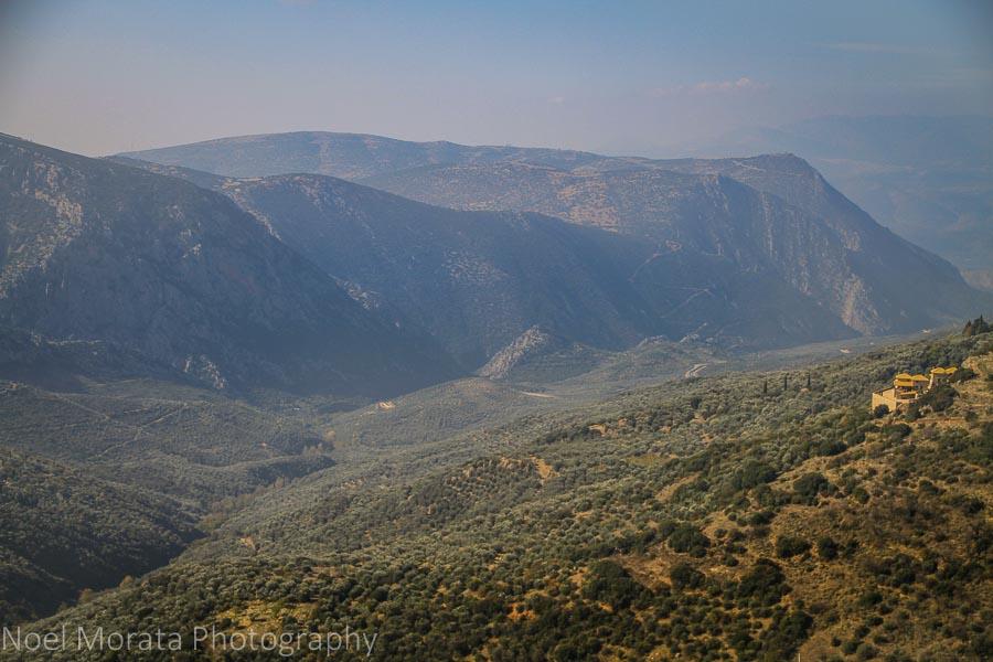 Mountain areas of Delphi and Mount Parnasus