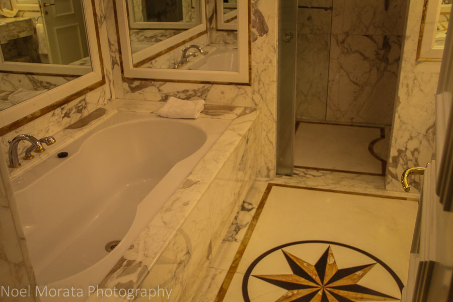 Marble bath at the Royal OLympic Hotel