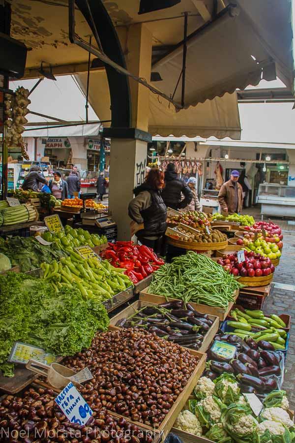 A fruit vendor at the Thessaloniki Central Market