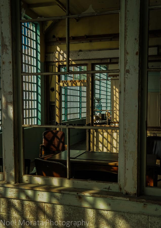 Empty rooms and wonderful reflections at Alcatraz