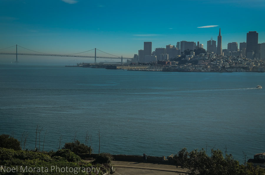 Views of San Francisco from Alcatraz prison