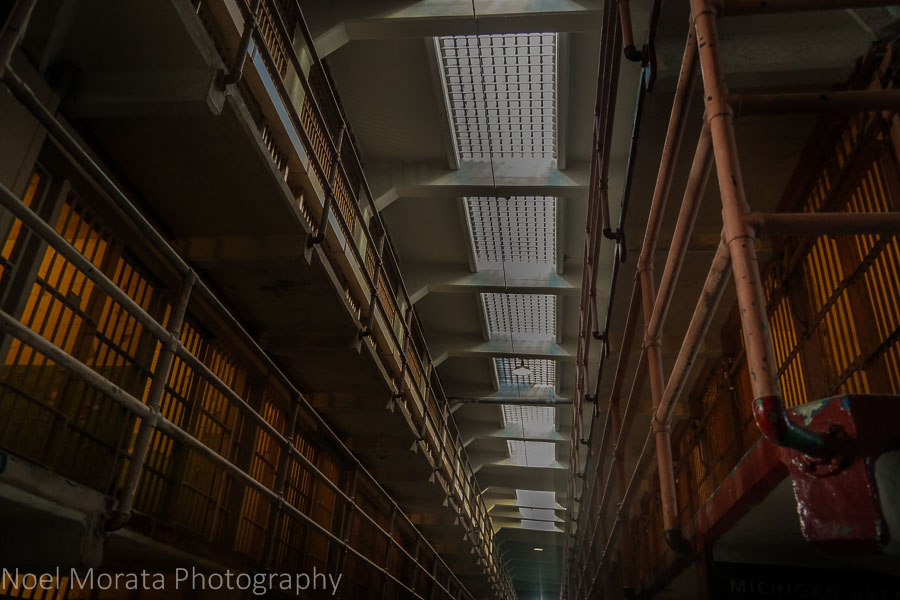 Interior views of Alcatraz penitentiary