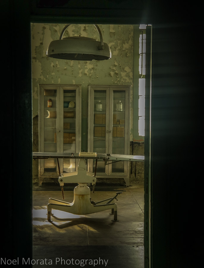 Operating room at Alcatraz penitentiary