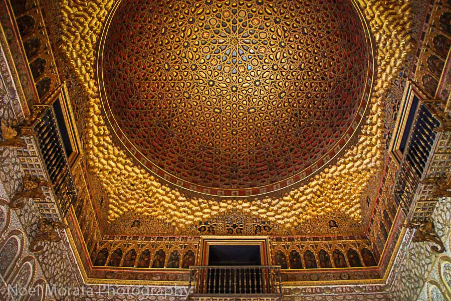 Alcazar dome in Seville