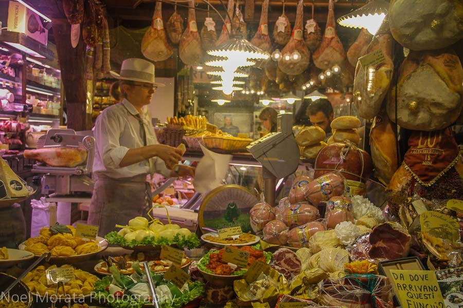 Bologna specialty food market