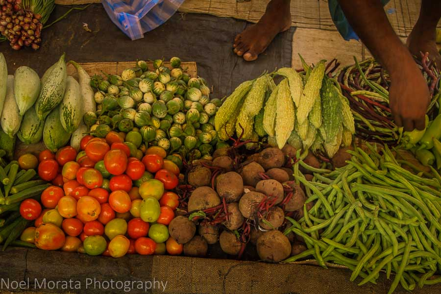 Fresh produce at the Negombo outdoor market