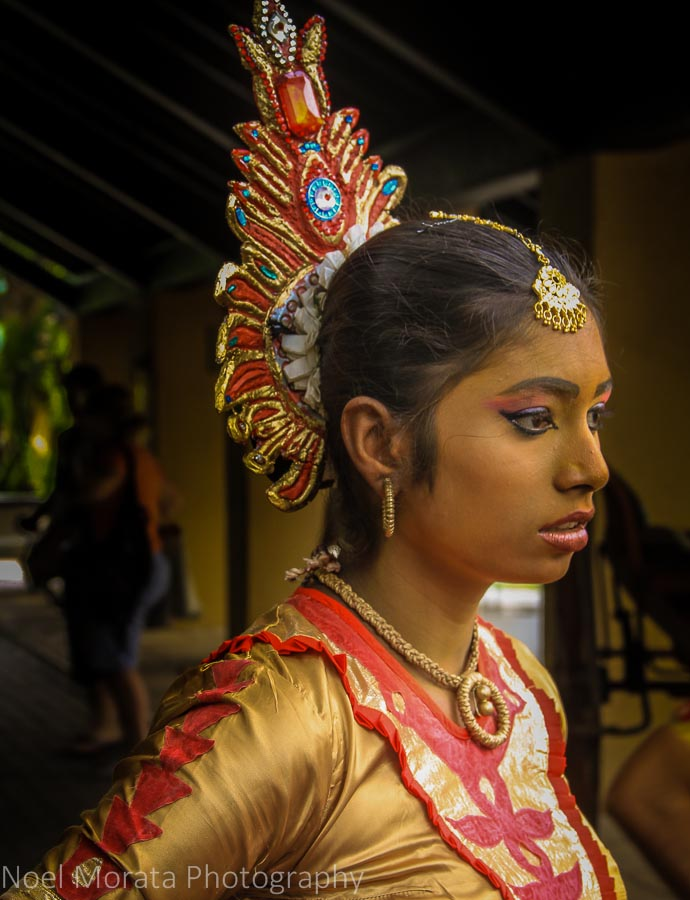 Graceful Sri Lankan dancer in traditional costume