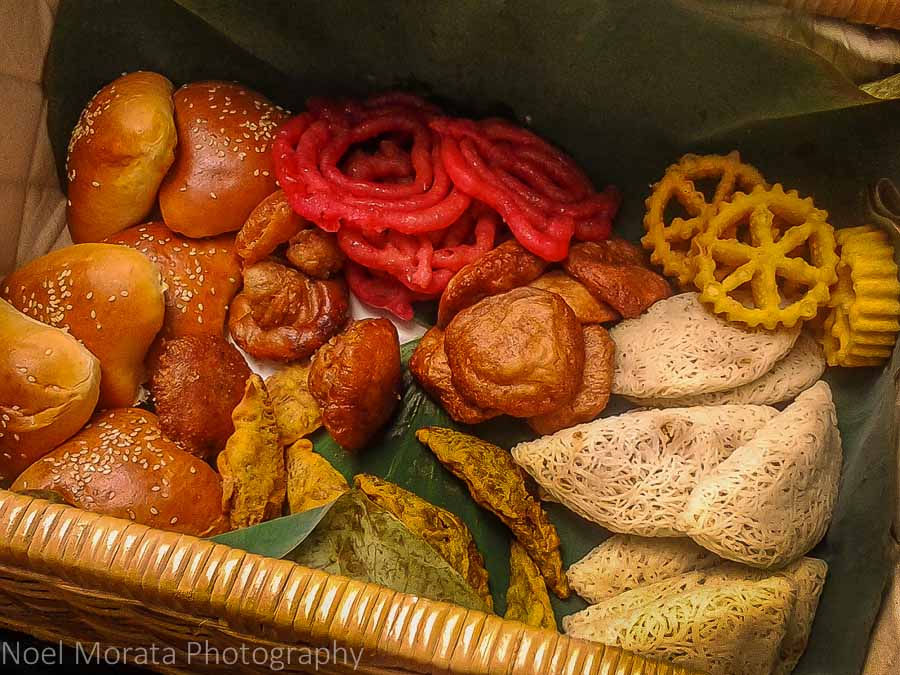 A variety of sweet Sri Lankan pastries