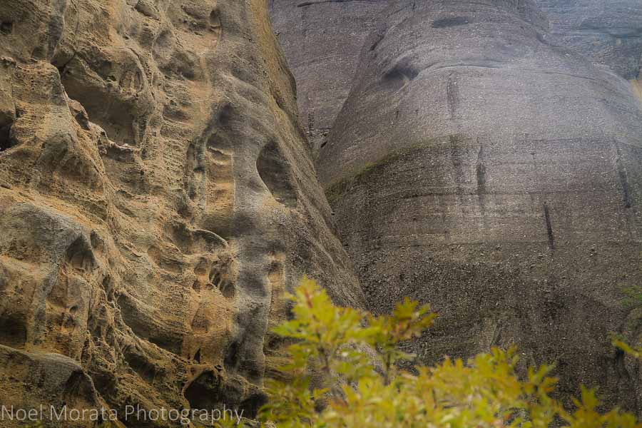 Unusual geology formations in Meteora, Greece
