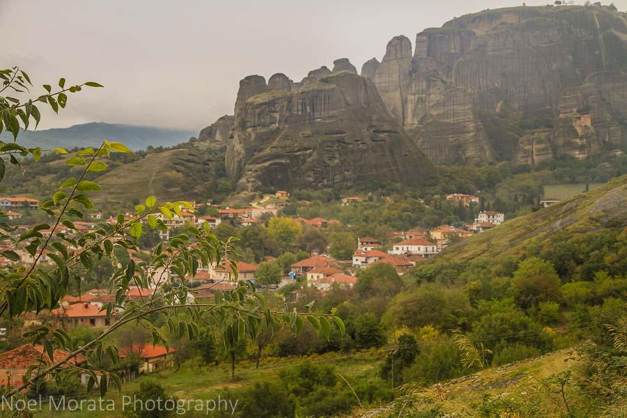 Views of the village of Kastraki, Meteora