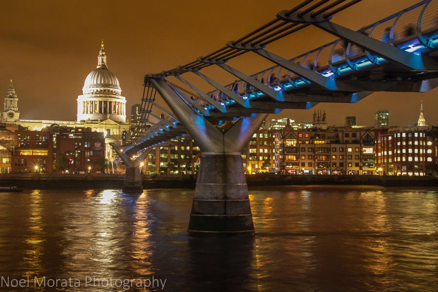 Millennium Bridge crossing to St. Paul's Cathedral