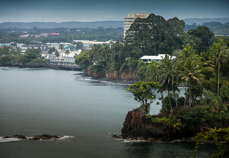 Hilo bay scenic view of downtown