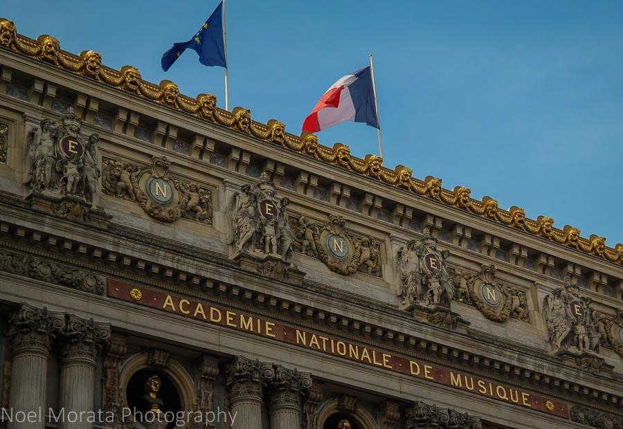 Opera house façade detail- Paris, France