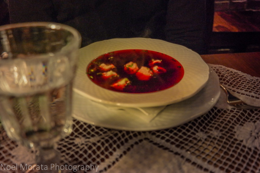 Jewish beet borscht in the Kazimierz