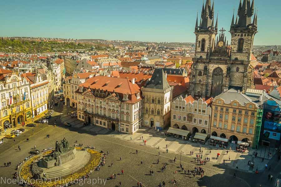 Looking down Prague's old town square (Staroměstské náměstí)