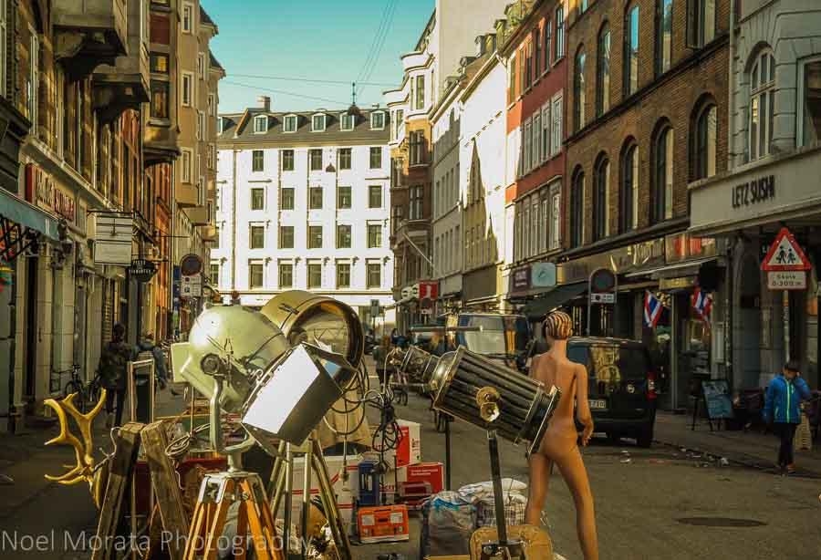 Flea market shopping at Nørrebro district, Copenhagen