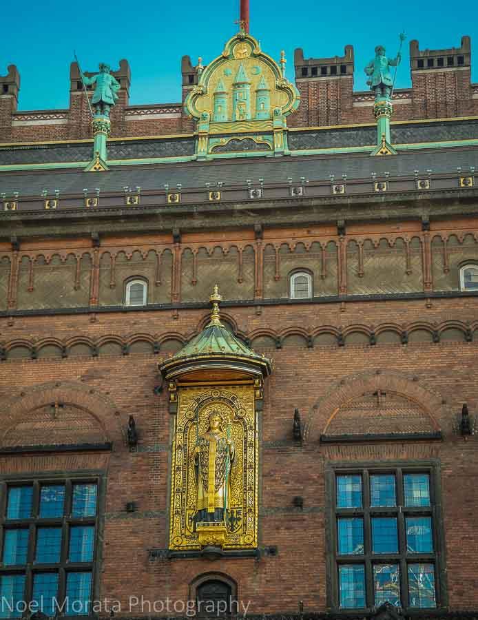 Façade of the old town hall at Raduspladsen, Copenhagen