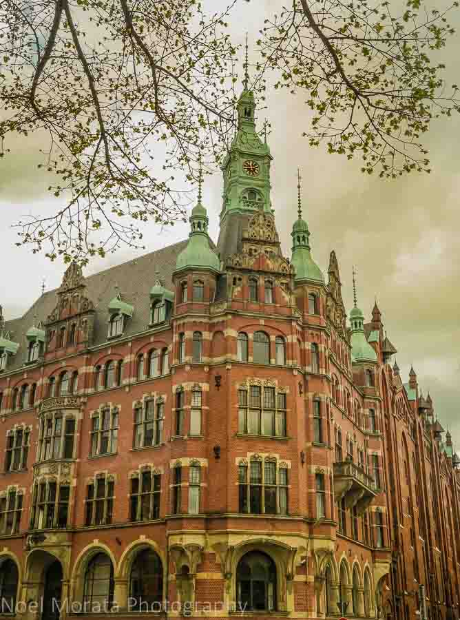 Hafenrathaus ('Harbour City Hall') at the Speicherstadt Warehouse District